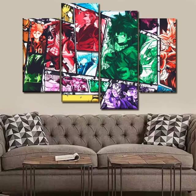 Décoration murale en 5 pièces Mix Anime