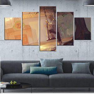 Décoration murale en 5 pièces Naruto Solitude