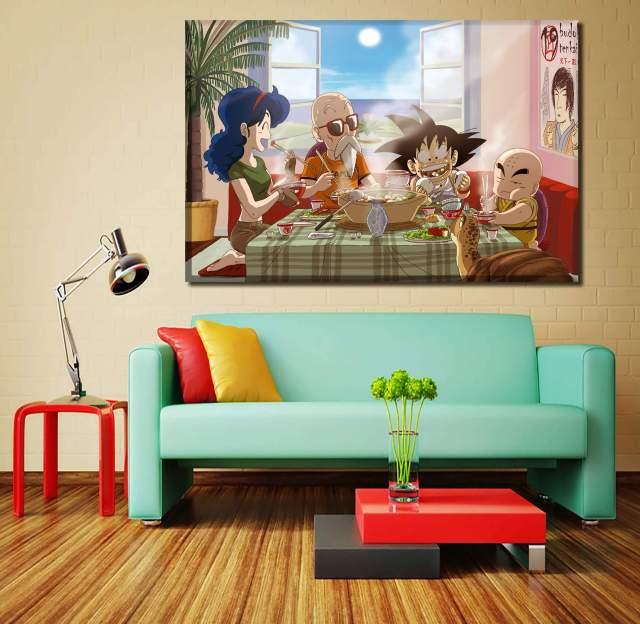 Décoration murale en 5 pièces Dragon Ball Kamehouse