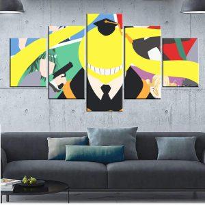 Décoration murale en 5 pièces Assassination Classroom Koro Sensei