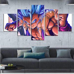 Décoration murale en 5 pièces Dragon Ball Super Gogeta