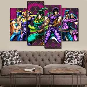 Décoration murale en 5 pièces Jojo's Bizarre Adventure Personnages
