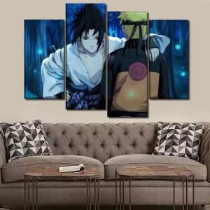 Décoration murale en 5 pièces Naruto Shippuden Naruto Vs Sasuke