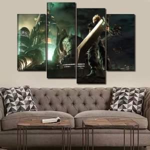 Décoration murale Final Fantasy 7 Remake Cloud