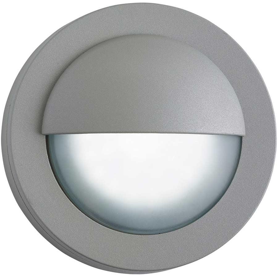 Modern LED Outdoor Mini Garden Wall Step Light Grey 1402GY