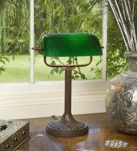 Handmade Antique Brown Bankers Lamp UK Made BANK93