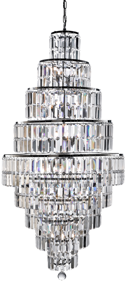 crystal chandelier tiered # 21