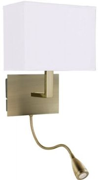 Antique Brass Bedside Wall Light LED Reading Lamp 6519AB