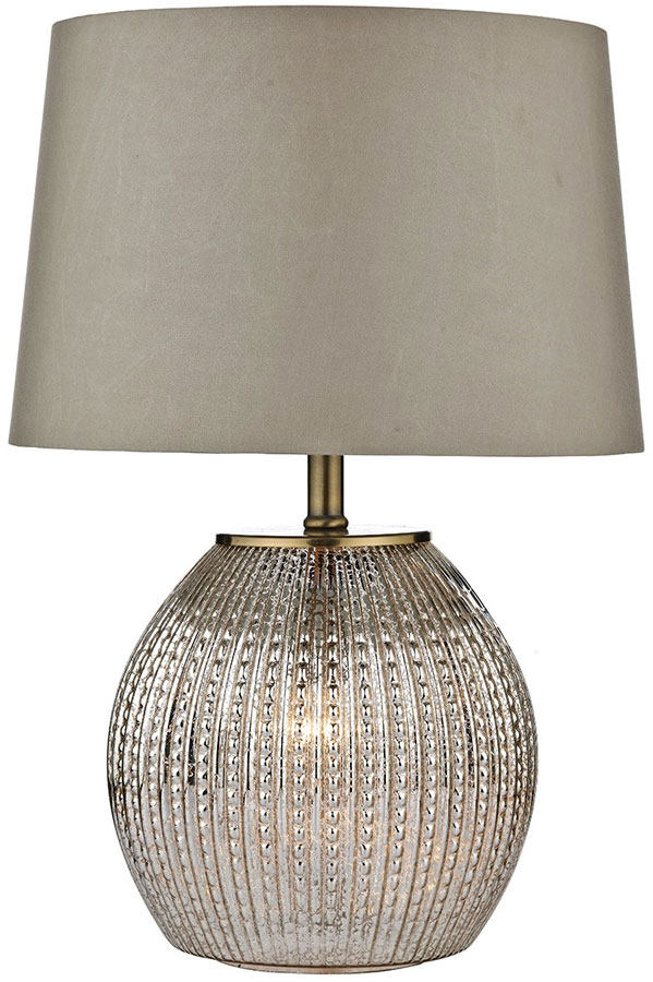 Dar Sonia Modern 2 Light Table Lamp With Shade Antique