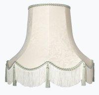 Handmade Quality Tassel Floor Lampshade Cream and Gold ...