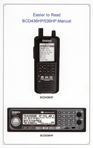 Easier to Read Uniden BCD436HP / BCD536HP Scanner Manual