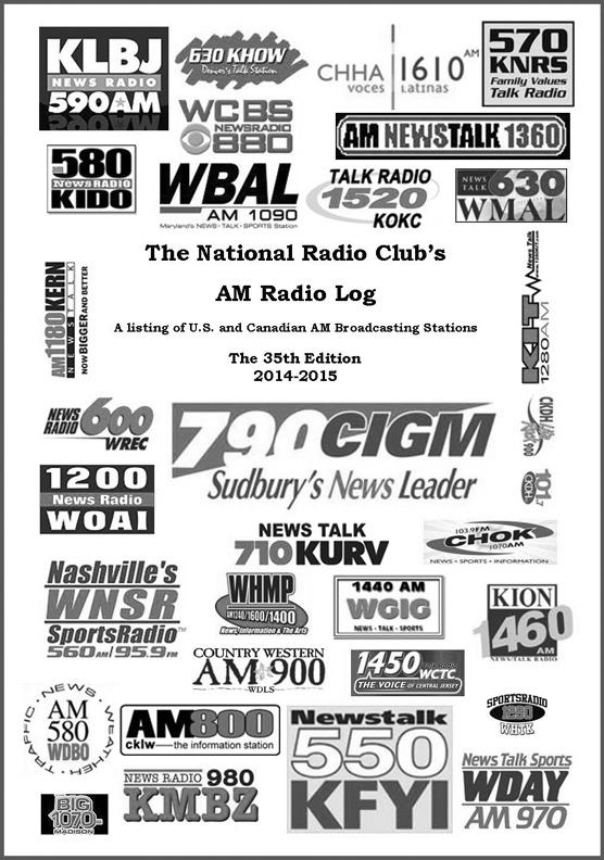 National Radio Club AM Radio Log, NRC AM Log By Wayne