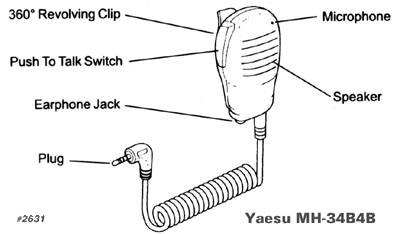 Yaesu MH34B4B Speaker Mic