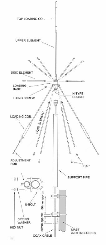 Apex Radio 703G-DA Discone Antenna