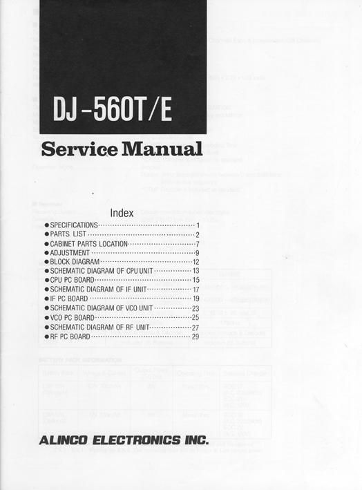 Radio Manuals