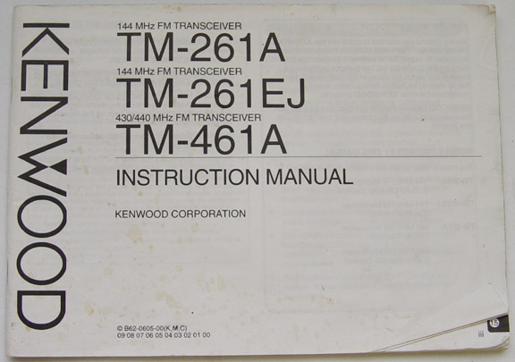 Kenwood TM-201A, TM-221A, TM-271A