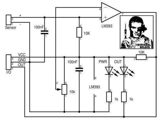 Noise Sound Audio Sensor adjustable trigger output for