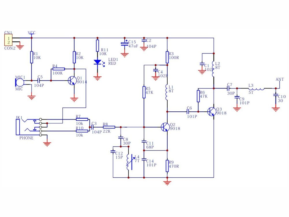 medium resolution of fm mic circuit diagram