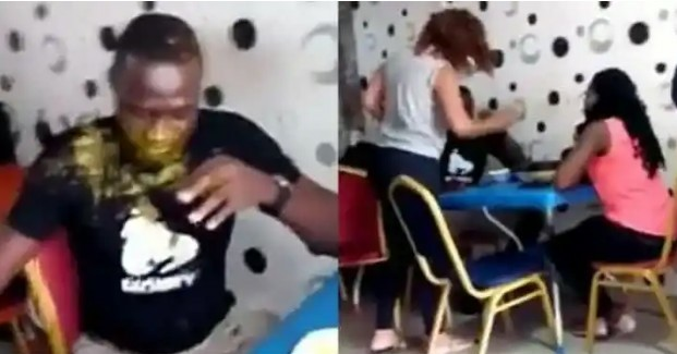 Lady-slaps-husband-multiple-times-pours-soup-on-him-for-going-out-with-side-chick Lady slaps husband multiple times, pours soup on him for going out with side chick [video]