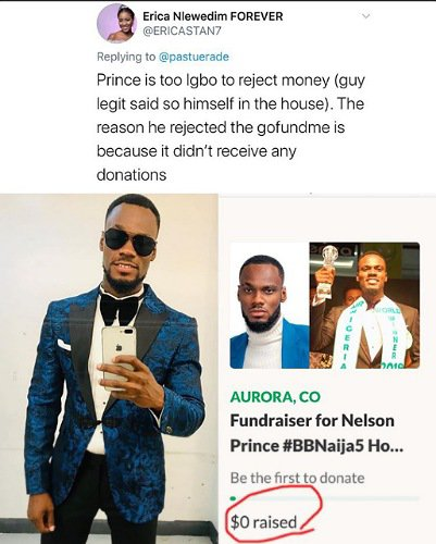 """screenshot-9 """"Prince is too Igbo to reject money"""" – Lady reveals why Prince rejected GoFundMe account from his fans"""