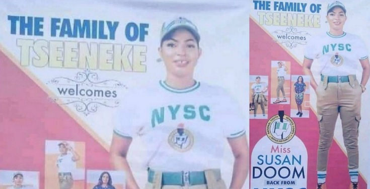 Nigerians-react-as-family-prints-banner-to-welcome-daughter-from Nigerians react as family prints banner to welcome daughter from NYSC