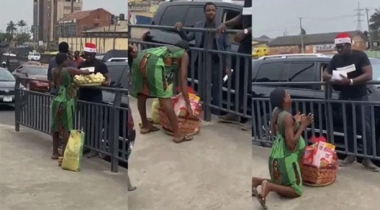 UCScreenshot20201223134711 Pregnant Hawker Breaks Down In Tears As Man Buys Her Entire Foodstuffs And Gifts Her Christmas Hamper & Cash