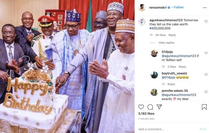 """images-48 """"They'll say the cake is N400M"""" – Nigerians tease Buhari over his birthday cake"""