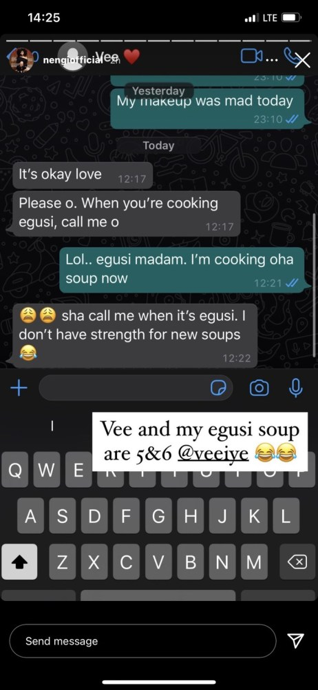 0939dfcb3cc13a566741733a53c05c13-462x1000 Leaked Chat Between Nengi And Vee Sparks Reactions On Social Media