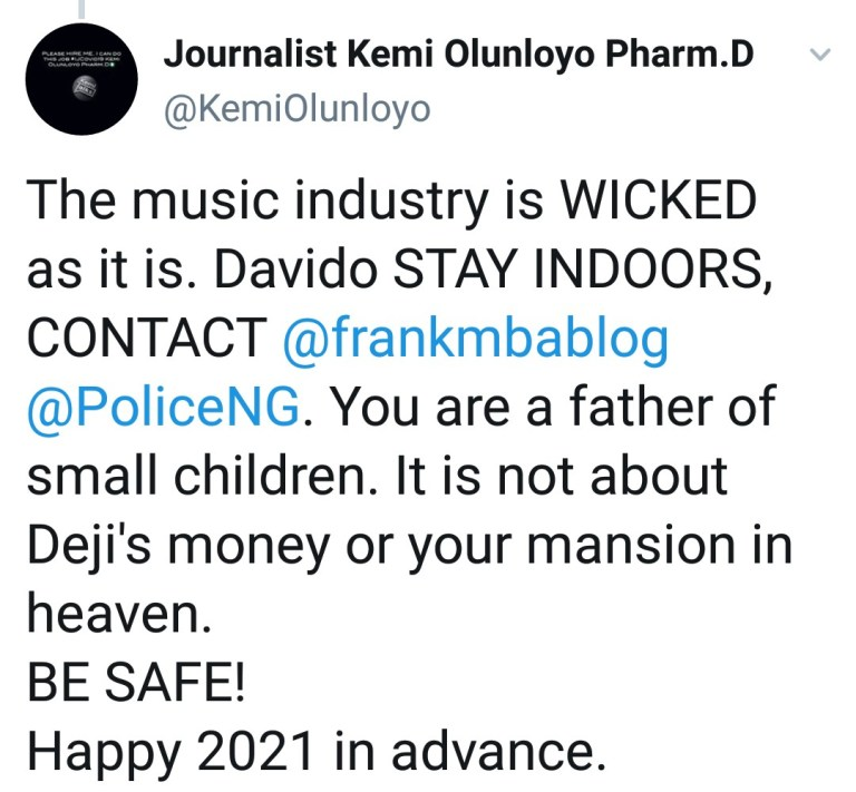 IMG_20201229_201403_119 How someone is allegedly plotting to kill Davido, following death of eye witness at Twist, Ghana