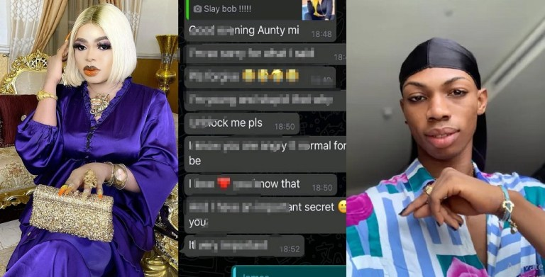 """UCScreenshot20210116075812 """"You Stepped On A Python Tail"""" – Bobrisky Says As He Leaks James Brown's Chat"""