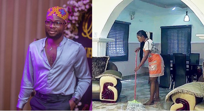cleaning-lady-ft Cleaning lady loses job as her boss overhears her calling him a yahoo boy