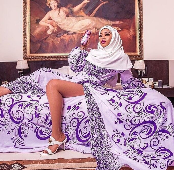 166201624_4334479636564250_1504713044531853123_n Toyin Lawani Releases Photo Of Herself In $e.xy Muslim Outfit After Being Dragged Over Her Racy Nun Photos