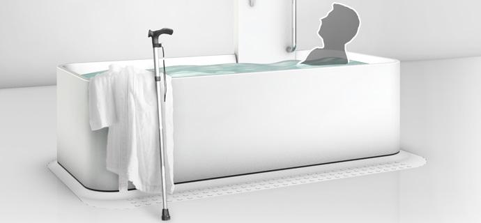 Elevated Bathtub  The Roll In Bathtub Concept