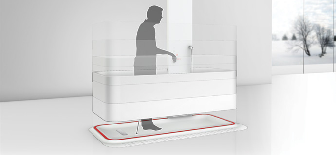 Elevated Bathtub  The Roll In Bathtub Concept
