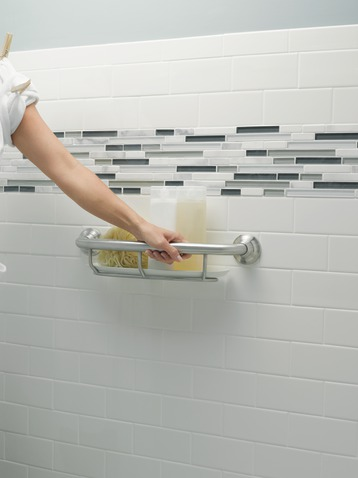 Stylish Grab Bars with Storage by Moen