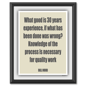 Knowledge Over Experience