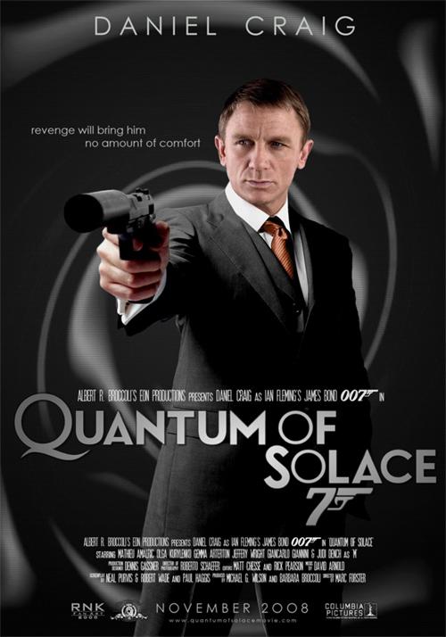 James Bond Movies Quantum of Solace Poster Contest