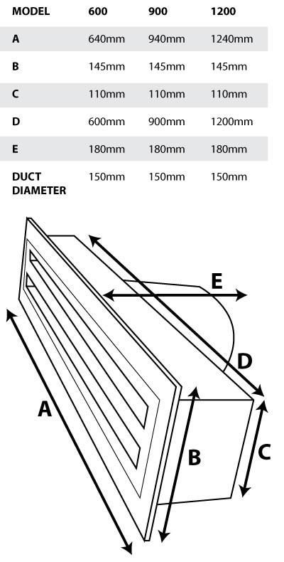 Metal Linear Slot Vent  150mm  Length Options