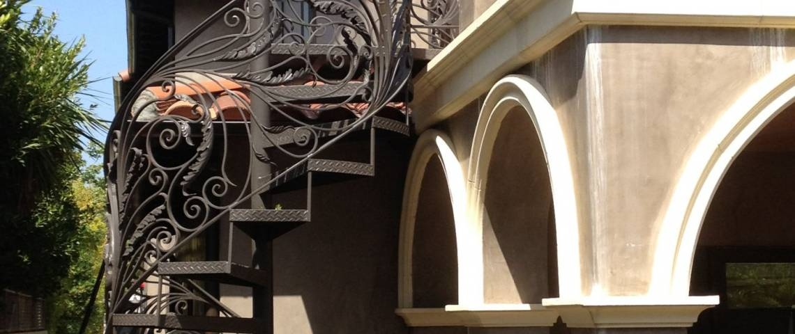 Custom Fabricated Spiral Staircase Installed In Thousand Oaks   Iron Works Spiral Stairs   Stair Railing   Stair Case   Stair Treads   Handrail   Wrought Iron