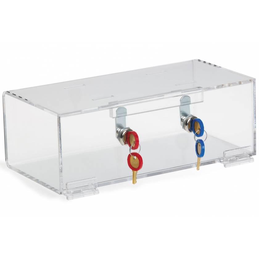 OmniMed 183002 Clear Acrylic Refrigerator Lock Box with Double Key Lock