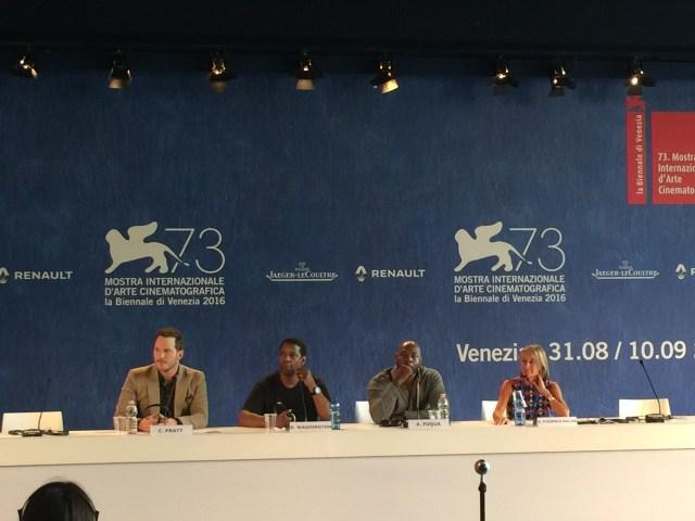 I magnifici sette conferenza stampa