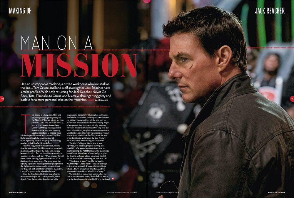 Jack Reacher - Punto di non Ritorno (Total Film Magazine)