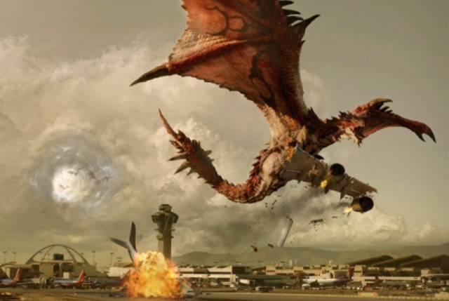 Monster Hunter, l'attore Diego Boneta impugna un fucile sul set del film
