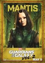 guardiani galassia 2 mantis