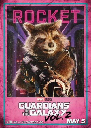 guardiani galassia 2 rocket raccoon