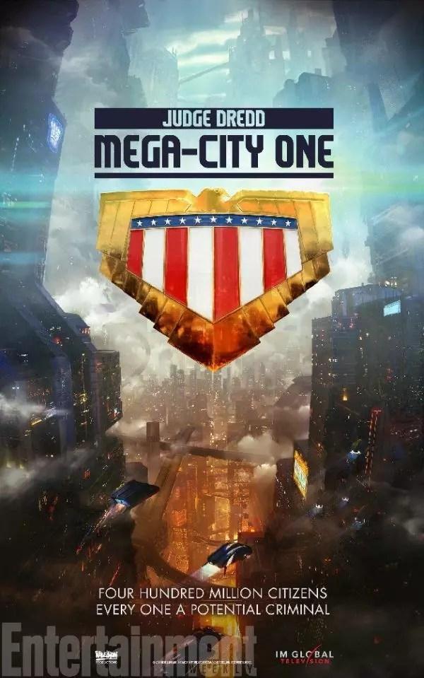 mega city one judge dredd serie tv poster