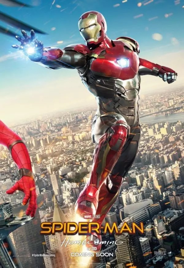 spider-man homecoming iron man poster