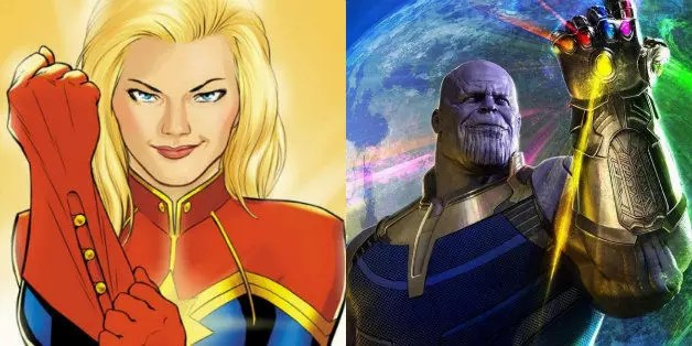avengers infinity war captain marvel