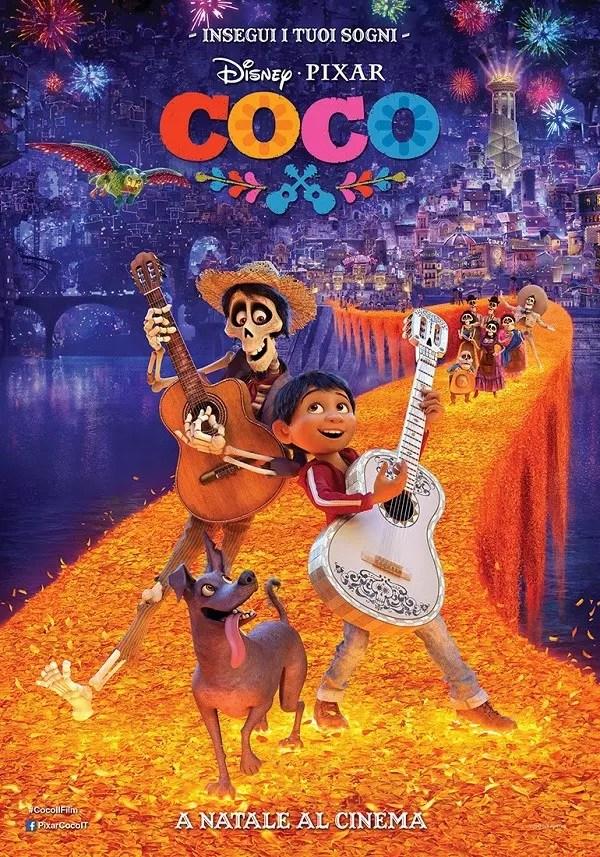 coco pixar poster ita