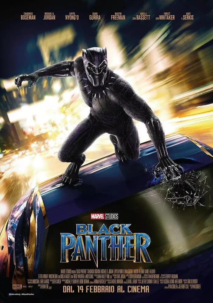 black panther poster italiano
